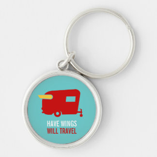 Have Wings Will Travel - Vintage Camping Keychain