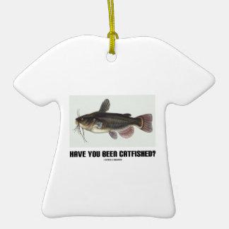 Have You Been Catfished? (Catfish Illustration) Ceramic T-Shirt Decoration