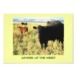 Have You Herd? Cattle Calves Western Party Shower 13 Cm X 18 Cm Invitation Card