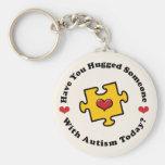 Have You Hugged Someone Autism Awareness Key Chai Key Chain