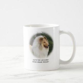 HAVE YOU HUGGEDYOUR COLLIE TODAY?, DYNA... COFFEE MUG