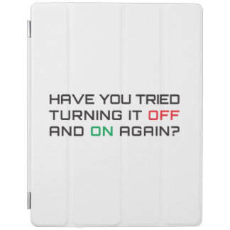 Have you tried turning it off and on again? iPad cover