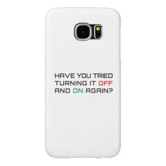 Have you tried turning it off and on again? samsung galaxy s6 cases