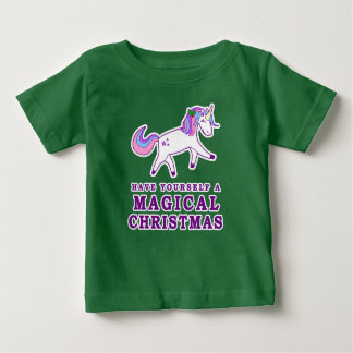 Have Yourself a Magical Christmas Unicorn Baby T-Shirt