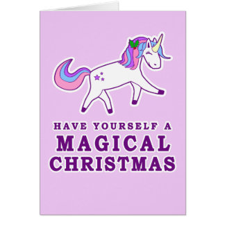 Have Yourself a Magical Christmas Unicorn Card