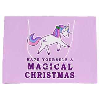 Have Yourself a Magical Christmas Unicorn Large Gift Bag