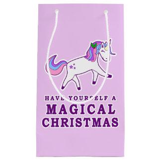 Have Yourself a Magical Christmas Unicorn Small Gift Bag