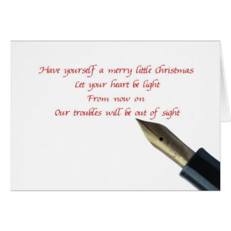 have yourself a merry little christmas card