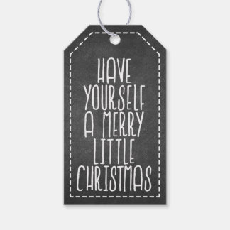 Have Yourself a Merry Little Christmas chalkboard Pack Of Gift Tags