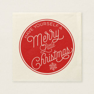 Have Yourself A Merry Little Christmas Disposable Serviettes