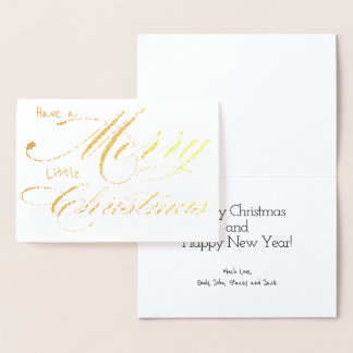 Have Yourself a Merry Little Christmas Gold Foil Foil Card