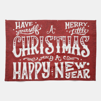 Have Yourself a Merry Little Christmas Kitchen Towels