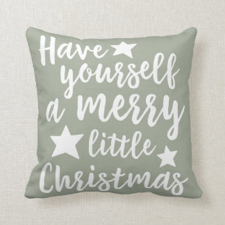 Have Yourself a Merry Little Christmas Pillow Throw Cushions