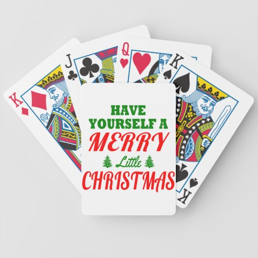 Have Yourself a Merry Little Christmas Bicycle Card Decks