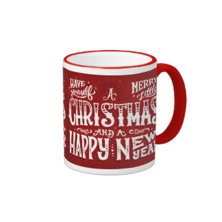 Have Yourself a Merry Little Christmas Ringer Mug