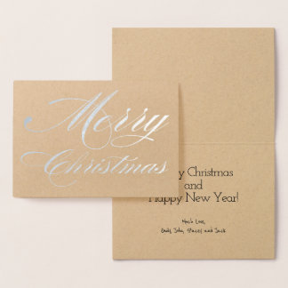 Have Yourself a Merry Little Christmas Silver Foil Foil Card