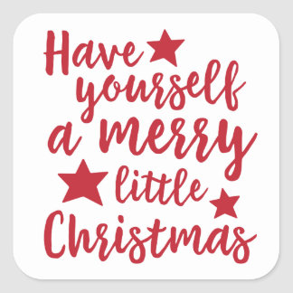 Have Yourself a Merry Little Christmas Stickers