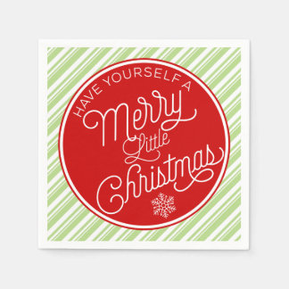 Have Yourself A Merry Little Christmas Paper Napkin