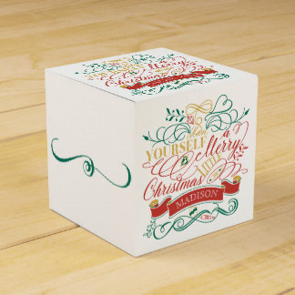 Have Yourself A Merry Little Christmas Typography Favour Box
