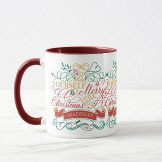 Have Yourself A Merry Little Christmas Typography Mug