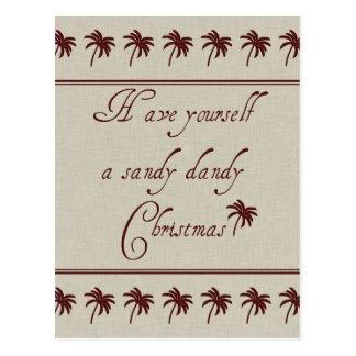 Have Yourself A Sandy Dandy Christmas Post Card