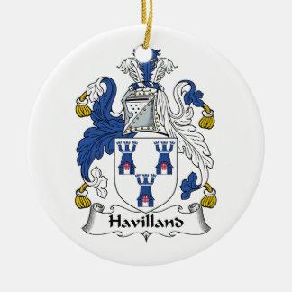Havilland Family Crest Ceramic Ornament