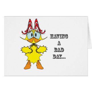 Having a bad day....ai greeting card