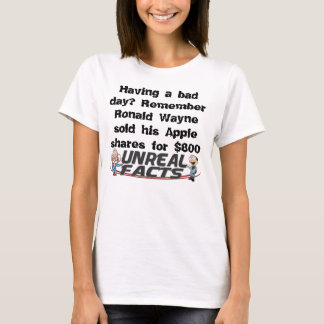 Having a bad day T Shirt with a cool Apple fact