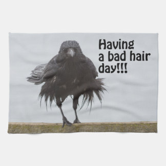 Having a bad hair day tea towel