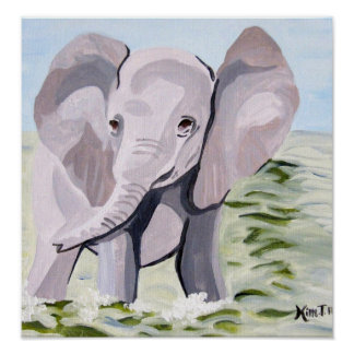 Having a Paddle (Acrylic Kimberly Turnbull Art) Poster