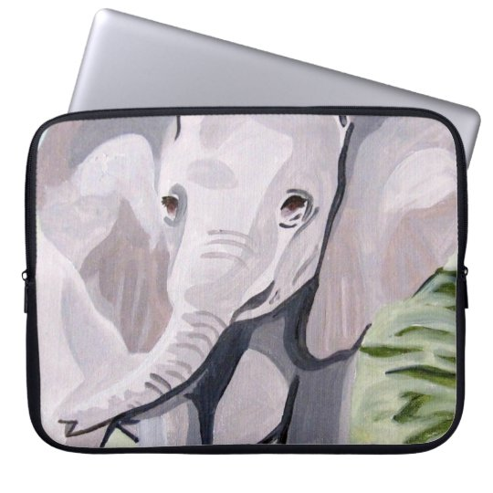 Having a Paddle Baby Elephant (K.Turnbull Art) Laptop Sleeve