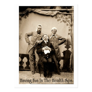Having Fun In The Health Spa - Postcard