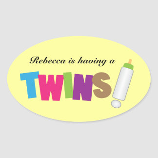 Having Twins colorful Sticker