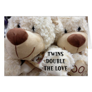 HAVING TWINS DOUBLES THE MEMORIES/JOY CARD