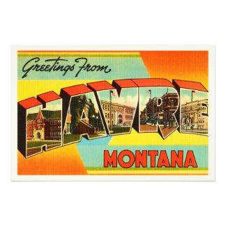 Havre Montana MT Old Vintage Travel Souvenir Photo Art