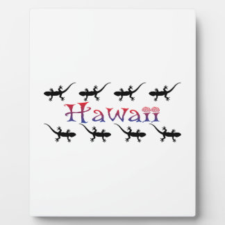 hawai geckos display plaque