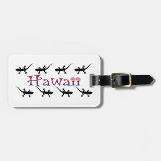 hawai geckos luggage tag