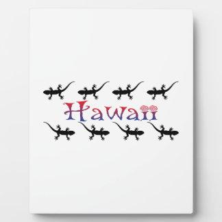 hawai geckos plaque
