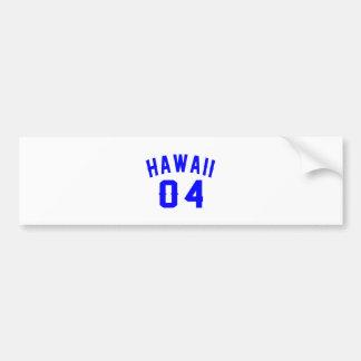 Hawaii 04 Birthday Designs Bumper Sticker