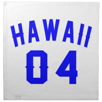 Hawaii 04 Birthday Designs Napkin