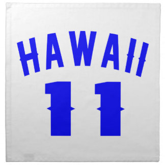 Hawaii 11 Birthday Designs Napkin