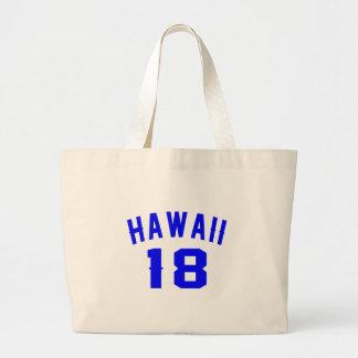 Hawaii 18 Birthday Designs Large Tote Bag