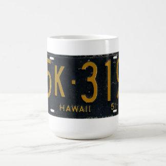 Hawaii 1951 License Plate Basic White Mug