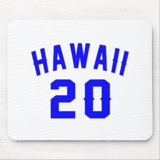 Hawaii 20 Birthday Designs Mouse Pad