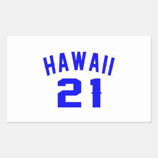 Hawaii 21 Birthday Designs Rectangular Sticker