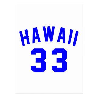 Hawaii 33  Birthday Designs Postcard