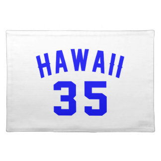 Hawaii 35 Birthday Designs Placemat