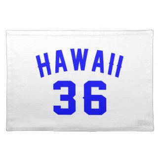 Hawaii 36  Birthday Designs Placemat