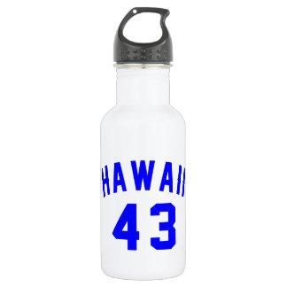 Hawaii 43 Birthday Designs 532 Ml Water Bottle