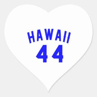 Hawaii 44  Birthday Designs Heart Sticker